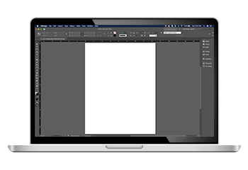 inDesign Software on Laptop